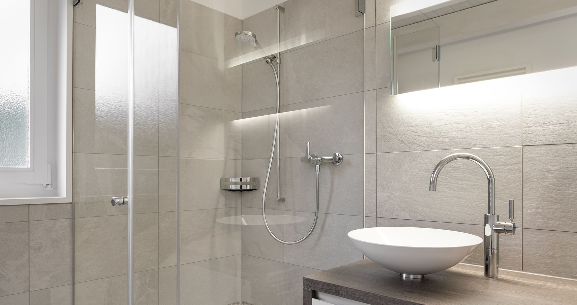 Badezimmer neu umgebaug Gyger Küchen GmbH